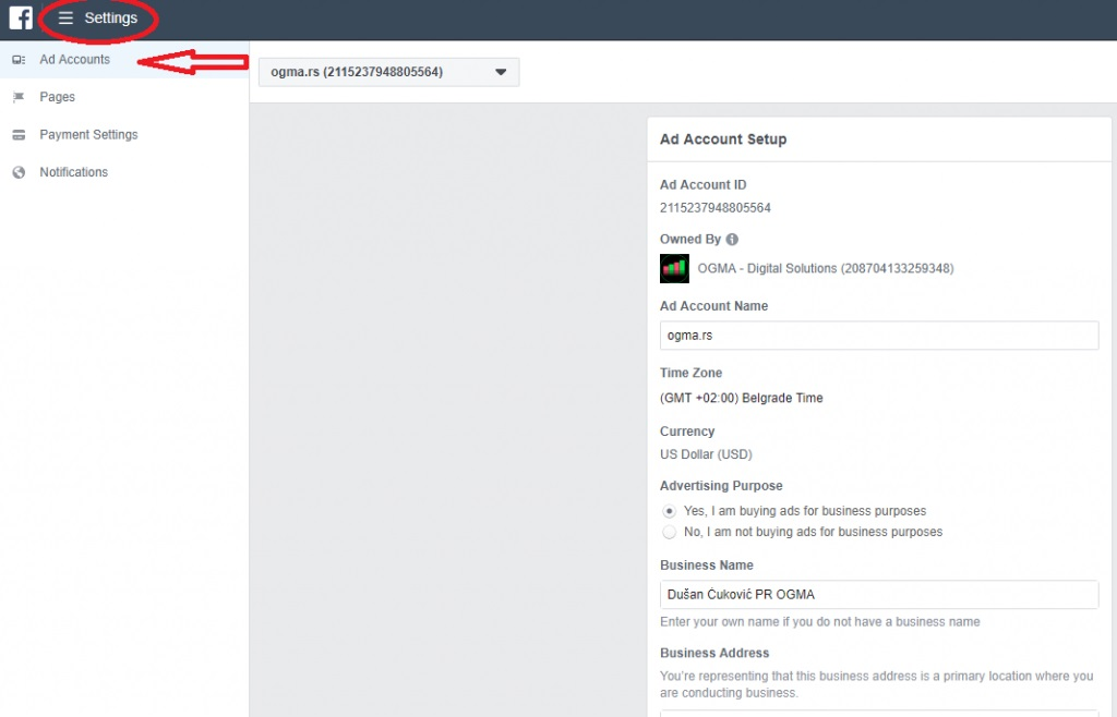 Facebook reklamiranje - Ads manager kreiranje naloga