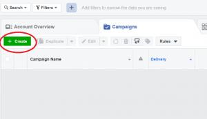 fb reklama - kreiranje kampanje
